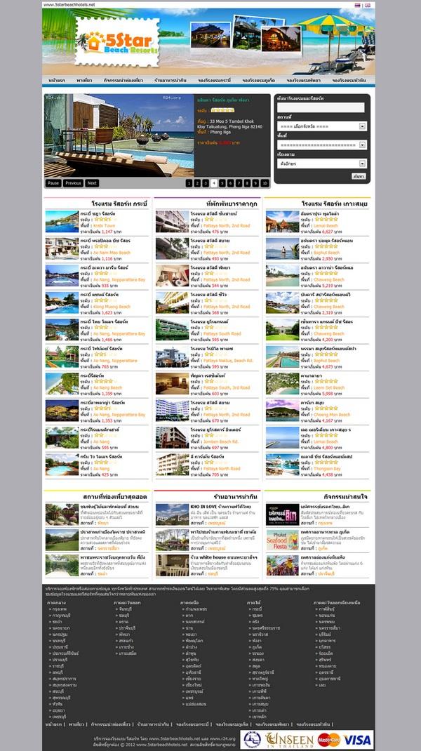 ภาพที่ 1 รับทำเว็บไซต์ จองโรงแรม R24 + ท่องเที่ยว เวอร์ชั่น 2 ขายสคริป R24